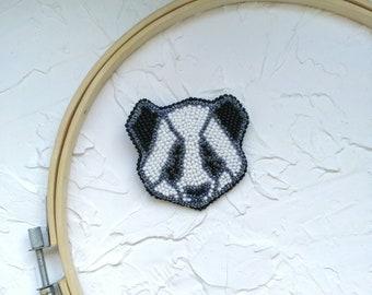 Panda gifts Cute panda Panda jewelry Animal pin Panda brooch Panda bear Panda accessories Embroider jewelry Panda lapel pin Animal replicas