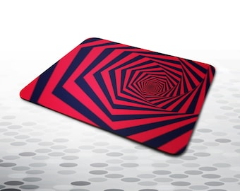 mousepad PSYCHEDELIC RED SPIRAL