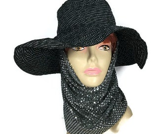 Silver Sequin Dot Head Covering Silver Snood Sequin Hijab Sequin Hoodie Tichel Silver Sequin Snood Head Scarves Hair Wrap Custom Size/Lining