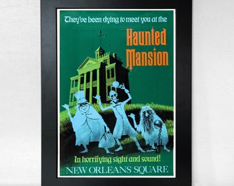 Haunted Mansion Ride - Vintage Disneyland Poster Unframed