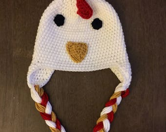 Rooster Hat with Earflaps