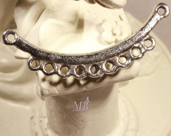 half moon clip multi 6 connectors silver 35mm