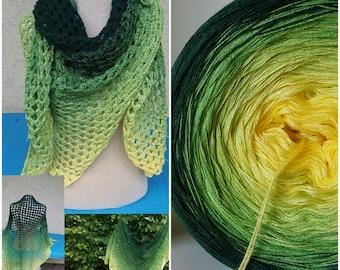 Designer yarn Gradient Flower meadow knitting crochet Hand Work Lacegarn