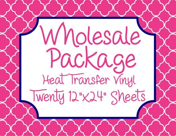 "Wholesale Package for Twenty 12""x 24"" Heat Transfer Vinyl Sheets // Beautiful, Vibrant Patterns"
