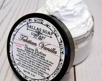 Tahitian Vanilla Shave Butter Soap for Women