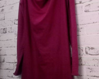 Dress in Strawberry color cotton