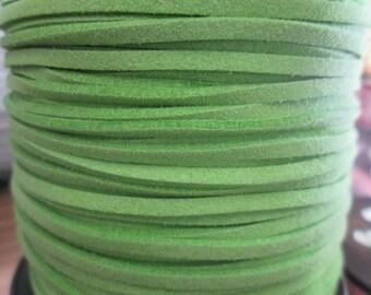 1 metre green suede cord 3 mm