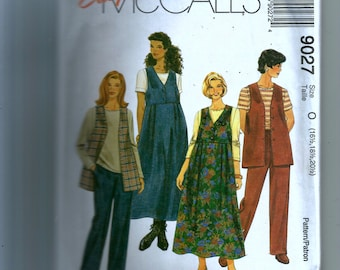 McCall's Half-Size Unlined Vest, Jumper, Top and Pull-On Pants Pattern 9027