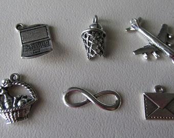 Charms, The Fault in Our Stars theme, Pewter charms   FIOS-1