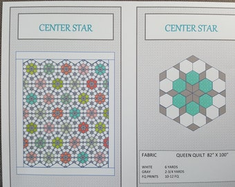 Center Star Quilt Pattern