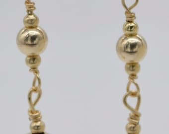 BE-169 New 14K Solid Yellow Gold Drop Earrings