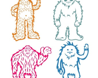Yeti sasquatch Bigfoot Cuttable Design PNG DXF SVG & eps File Silhouette Designs Cameo