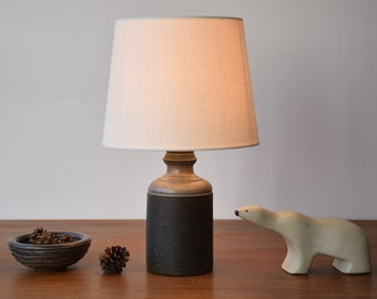 Incl New Lampshade! Kähler HAK Denmark - Table Lamp - Nils Kähler Attr. - Danish Mid-century Ceramic Lighting