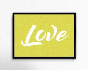 Love. PRINTABLE GRAPHIC.