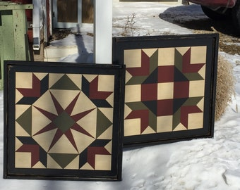 Set of 2 Barn Quilts - both 2' x 2' Size