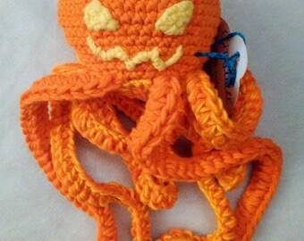Octopus plush ~ pumpkin