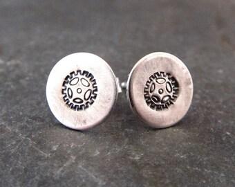 Bike Earrings  -Sterling Silver - Gear jewelry