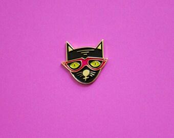 Cool Cat Enamel Pin