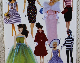 """Vogue 611, Doll Clothes Sewing Pattern, 11-1/2"""" Doll Clothes Pattern, Fashion Doll Clothes Pattern, Vogue Craft Pattern, Uncut"""