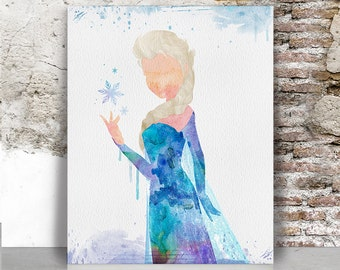 Elsa poster Frozen art print, Disney frozen print, Disney poster, Wall art, Artwork, Kids & children decor, Gift,FamouStars