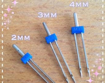 FREE SHIPPING - A006 Twin Needle Double Needle 3pcs/set (2/90-2mm, 3/90-3mm, 4/90-4mm)