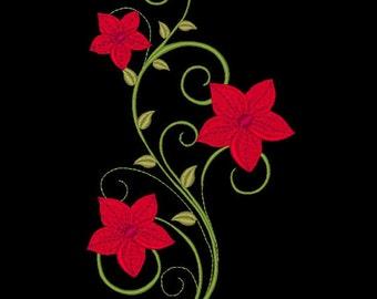 FANCY FLOWERS #11- 1 Machine Embroidery Design Instant Download 4x4 5x5 6x6 hoop (AzEB)