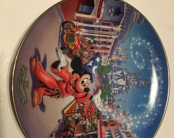 main street usa disney world 25th anniversary collector plate