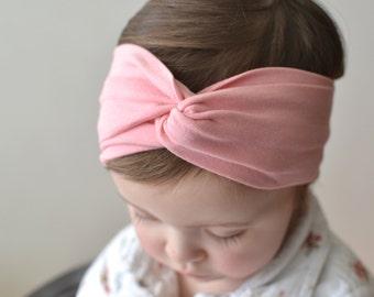 Pink Baby Headwrap, Baby Headband, Turban Headband, Baby Turban, Women's Headband, Toddler Turban,  Adult Turban Headband, Baby Gift