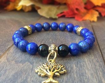 LAPIZ LAZULI - Healing Bracelets | Beaded Lapiz Lazuli | Wrist Mala | Healing Crystals | Lazuli jewelry | Healing Stones | Gift for Her