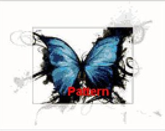 Butterfly. Cross Stitch Pattern. PDF Files.