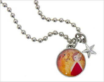 Girl Charm, Kids Necklace, Childrens Jewelry, Girls Necklaces, Girls Bracelets, Interchangeable jewelry, Kids Bracelet, Photo Jewelry,