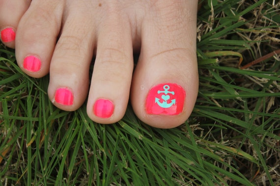 Anchor Toe nail decals Toe nail decal Anchor Toe nail art