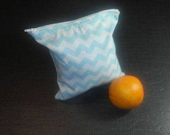 Snack or sandwich bag.  It is reusable, eco-friendly, easy to wash and designed to replace plastic bags