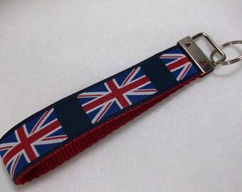 Union Jack Key Fob Wristlet Style