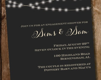 String Lights Engagement Party/ Couples Shower/ Birthday Invitation