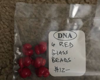 Red glass trade beads