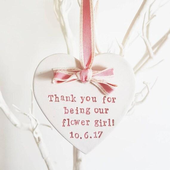 Best Wedding Gift For Girl: Flower Girl Wedding Gift Plaque Keepsake Thank You For