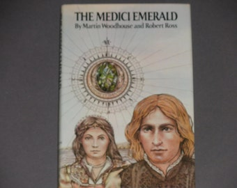 The Medici Emerald - Martin Woodhouse and Robert Ross - First Edition E.P. Dutton 1976 - Alternate History - Vintage Hardcover Book