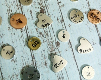 Add a Disc, Add a Small Hand Stamped Charm. Please note, this is an add on only!