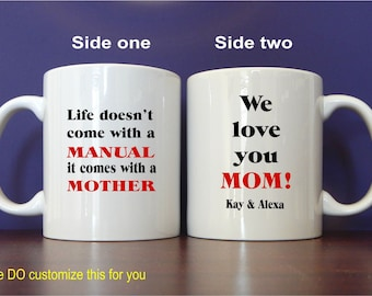 Gift for Mommy-Mom Mother's Day Gift - Personalized Mugs for Mom - Mom Birthday Gift - Mothers Day Mug, MMA002