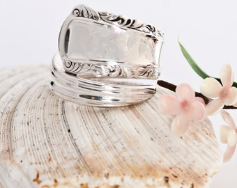 Vintage Spoon Ring - May Queen Spoon Ring - Silverware Spoon Ring - Spoon Ring - Silverware Jewelry - Spoon Jewelry (mcf  R170)