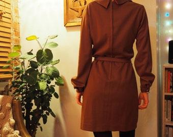 polyester mini dress