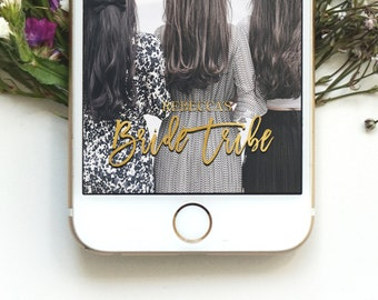 Wedding Party Geofilter bachelorette Party Geofilter Bride Tribe Geofilter Custom Personalized Geofilter Social Media  Snapchat Geofilter