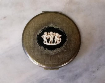 Vintage Volupte Ladies Compact with Cameo