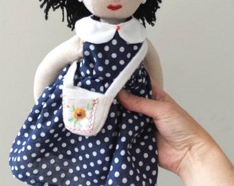 Heirloom Linen Doll, Vintage Style Doll named Emma