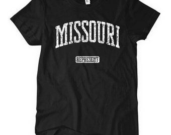 Women's Missouri Represent T-shirt - S M L XL 2x - Ladies' Missouri Tee, Missouri Gift, St Louis Shirt, Kansas City Shirt, Springfield, MSU