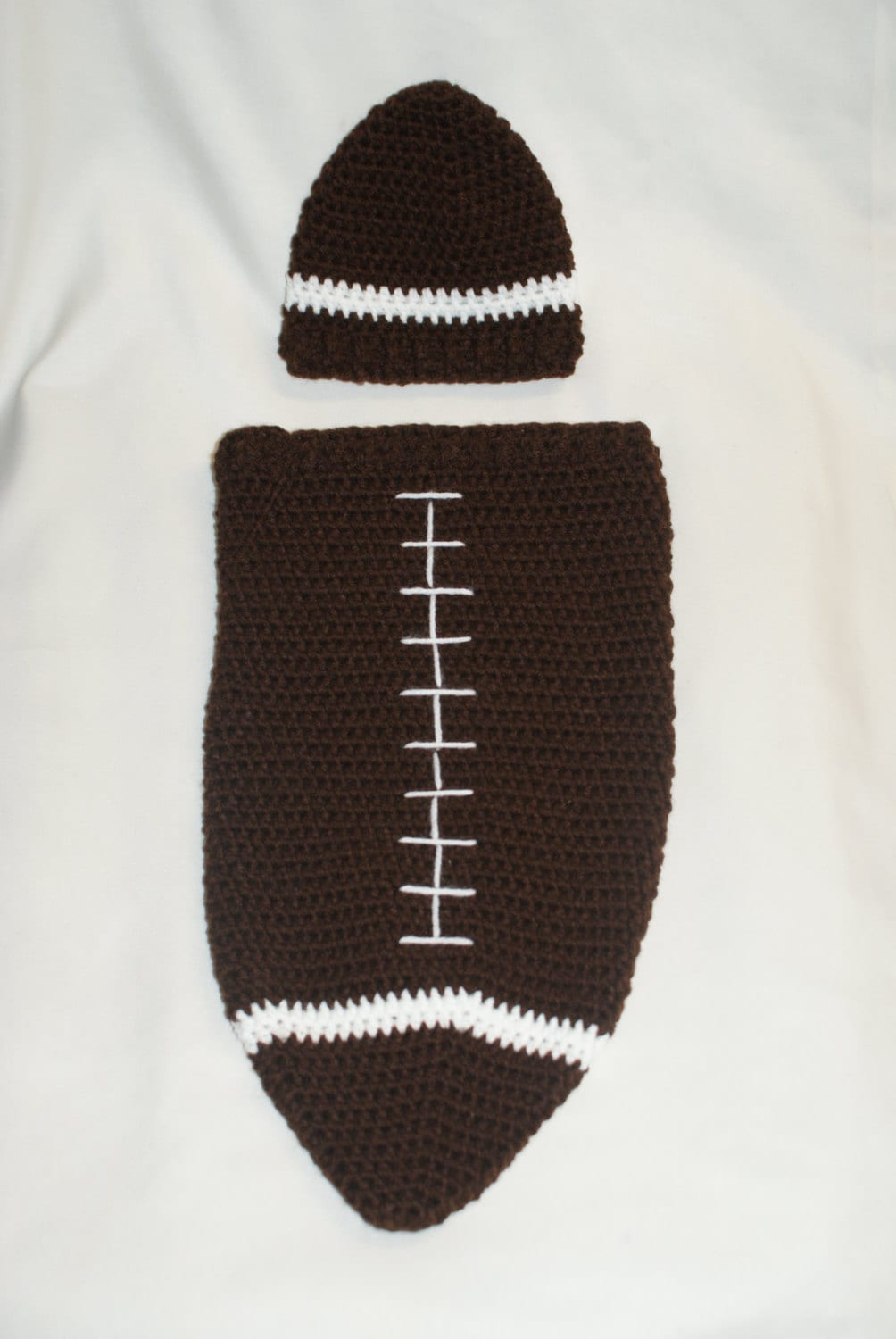 Crochet Football Cocoon and Hat PDF Pattern. Newborn. - PATTERN ONLY ...