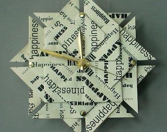 1st anniversary clock ~ Memorable st anniversary gift love origami clock paper
