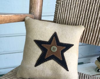 Star pillow wool primitive