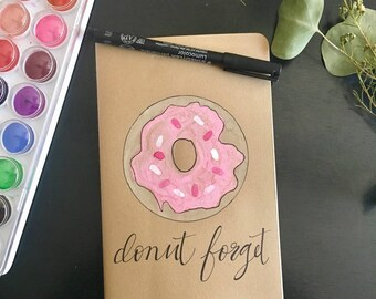 Donut Moleskin journal